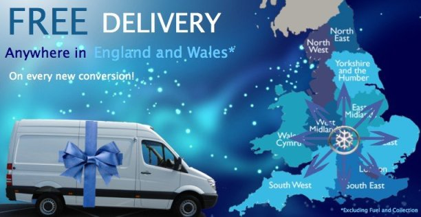Free delivery anywhere in England or Wales*