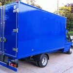 Refrigerated Vehicle Box Body blue van side shot