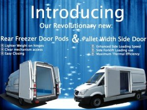 Our Revolutionary New Rear Freezer Door Panel & Pallet Width Side Door