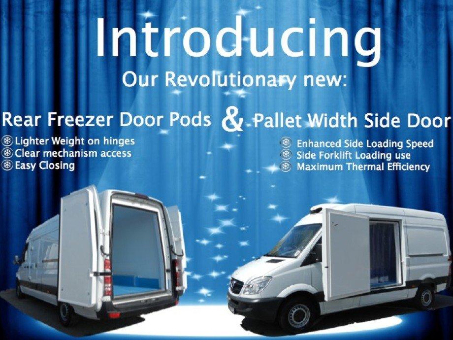 Our Revolutionary New Rear Freezer Door Panel Pallet Width Side