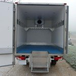 Refrigerated Vehicle Box Body rear view, door open
