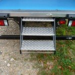 Fixed and Fold out Steps for Refrigerated Vehicle Conversion