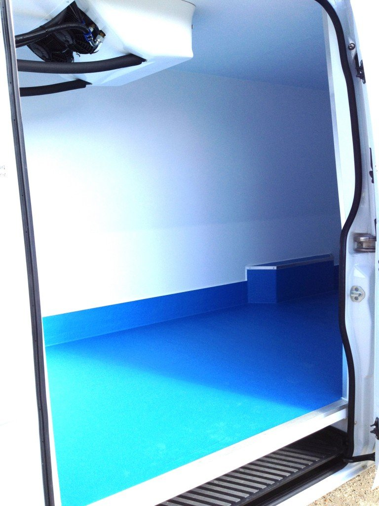 Side door view of Icecraft conversion | The World's first Removeable & Reusable Refrigerated Vehicle Conversion the World's first Removeable & Reusable Refrigerated Vehicle Conversion
